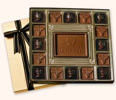 SQ16 Large Custom Chocolate Squares Gift Box