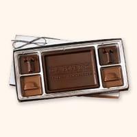 SQ4 Small Custom Chocolate Squares Gift Box