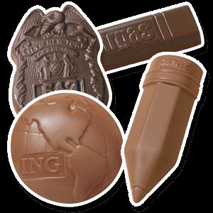 Custom Shaped Chocolates